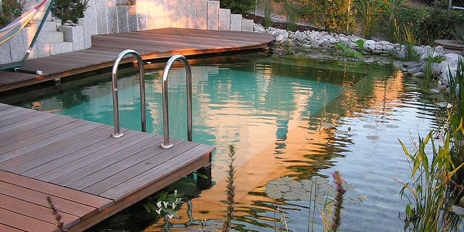naturpool schwimmteich panzer garten und landschaftsbau. Black Bedroom Furniture Sets. Home Design Ideas